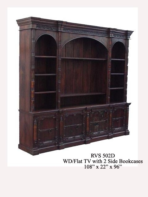 bookcase with arch